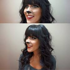 beautiful and happy cat makeup for