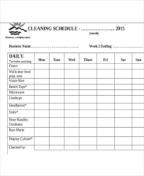 Bathroom Cleaning Schedule Gorgeous 48 Restaurant Cleaning Schedule Templates 48 Free Word PDF Format