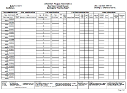 Cattle Birth Weight Chart Calving And Weaning Report