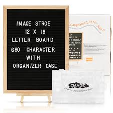 Changable Felt Letter Board With 680 Letters Numbers Symbols12x18 Inches Changeable Wooden Message Board Sign Oak Wood Framewall Mount With