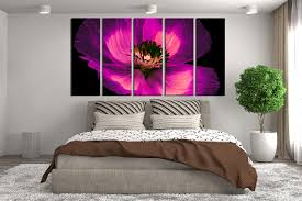 5 piece canvas wall art floral wall art bedroom wall decor purple canvas on canvas wall art purple flowers with 5 piece multi panel canvas purple flower canvas photography flower