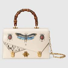 gucci bags fall 2017. gucci \u0027ottilia\u0027 bg featuring a bamboo handle and insect detailing from the fall 2017 collection. bags 0