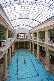 indoor pool. Indoor Swimming Pool Filled With Ample Natural Lighting B