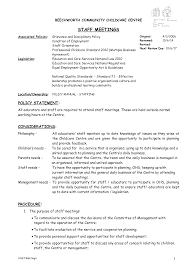 Business Meeting Agenda Examples Free Management Staff Templates At