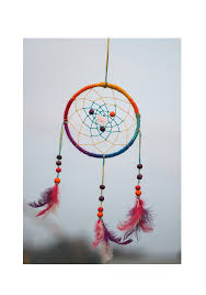 Colored Dream Catchers Amazing NPDC32Single Wheel 3232 Multi Colored Dream Catcher Tenzin