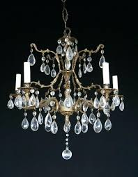 antique brass 5 light chandelier antique vintage made in brass 5 light chandelier with crystals nautical