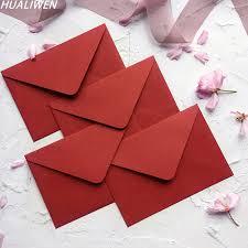 Mais de 100 modelos a sua escolha. Envelope De Papel Luxuoso Do Vintage Do Envelope Vermelho Para O Envelope Do Presente Do Convite Da Festa De Casamento 10 5x15 5cm Produtos De Impressao