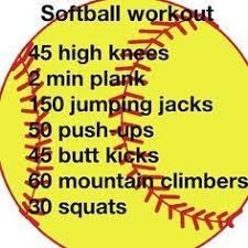 softball workouts for any fellow softball players
