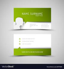 Modern Simple Green Business Card Template With