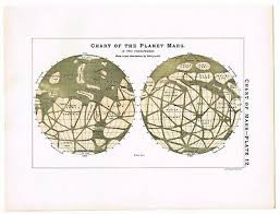 Antique Print Vintage 1890 Astronomy Science Star Chart Map