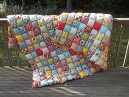 25+ unique Biscuit quilt ideas on Pinterest | Bubble quilt, Puff ... & Queen Size Rag Puff / Biscuit Quilt - Beautiful Warm and Cozy Rag Quilt  International Shipping available Adamdwight.com