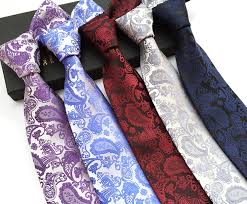 Tie Patterns New Wholesale Floral 48% Silk Classic Men Ties Stripe Paisley Check