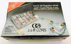 J P Coats Embroidery Floss Case 50 Skeins 100 Flat Bobbins 450 Yds New Sealed