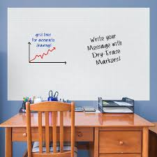 Dry Erase Graph Whiteboard Huge Removable Wall Decal
