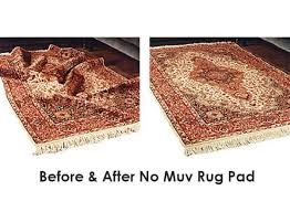 no muv wrinkle free area rug pad 1 4 thick non slip no muv area rug pad customize your size and shape