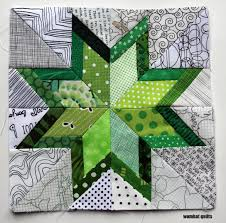 8 inch stars… a new paper piecing adventure | WOMBAT QUILTS & free paper pieced pattern Adamdwight.com