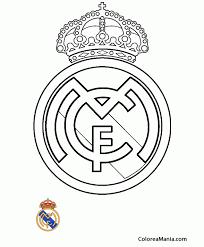 colorear club de fútbol real madrid
