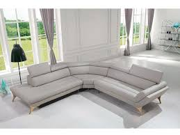 grey leather sectional sofa for