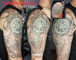 значение татуировки штурвал фото и эскизы тату штурвал Rustattoo