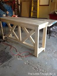build your own rustic furniture. Diy Rustic Console Table, Diy, Painted Furniture, Woodworking Projects Build Your Own Furniture A