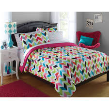 Kids Bedroom Bedding Your Zone Bright Chevron Bed In A Bag Bedding Set Walmartcom