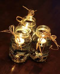 Decorating With Raffia Mason Jars With Raffia Ribbon And Rocks Decorating With Floating