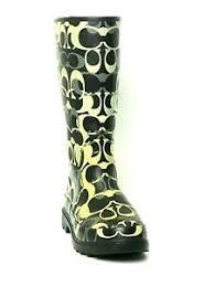 Coach Sneakers Size Chart Details About Coach Paisley Womens Rain Boots Size Us 7 Eu 37 5 Uk 5