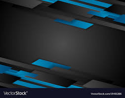 Black And Blue Design Black And Blue Tech Geometric Abstract Background