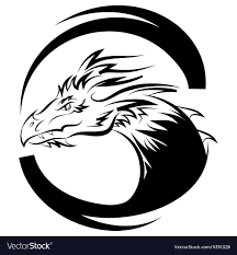 template of a dragon dragon logo design template dragon icon royalty free vector