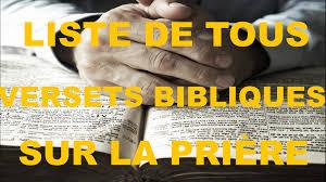 Liste De Tous Les Versets Bibliques Sur La Prière