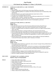 Nurse Skills Resume Critical Care Nurse Resume Samples Velvet Jobs 20