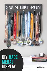 show off your medals with this diy race medal display perfect handmade gift for runners
