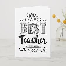 Teachers Birthday Card Best Teacher In The World Birthday Card