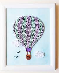neoteric hot air balloon wall art paper wallpaper sticker decal nursery hd walla decor uk