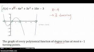 turning points of polynomial functions