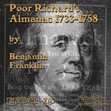 Image result for the first edition of Poor Richard's Almanack .