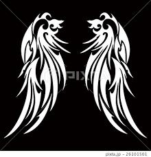 トライバル 天使の羽のイラスト素材 26101501 Pixta