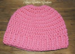 Free Crochet Hat Pattern With Ponytail Hole New Amy's Crochet Creative Creations Crochet Elastic Ponytail Holder