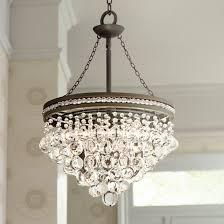 brushed nickel kitchen lighting elegant regina olive bronze 19 wide crystal chandelier u2231 lampsplus