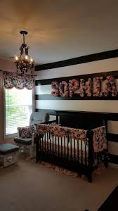 Baby Kinderzimmer Diy Blumenbriefe Gestreifte Schwarzweiss