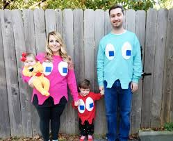 ms pacman and ghosts costumes here s a diy family costume idea that is