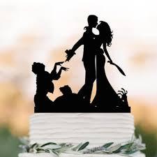2019 Zombie Wedding Cake Topper Halloween Couple Silhouette Wedding
