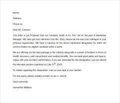 Proposal Letter For Employment Interesting Job Proposal Letter Template Henrycmartin