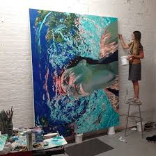 underwater oil painting by samantha french
