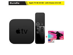 Buy Apple TV 4K 64 GB with Itunes 10 $ US Online in Kuwait, Best Price at  Blink