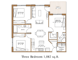 3d Apartment Floor Plans 3 Bedroom 3 Bedroom Apartments Plans 3 Bedroom A Floor  Plan A