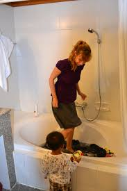 wash clothes in hotel bathtub bathroom ideas