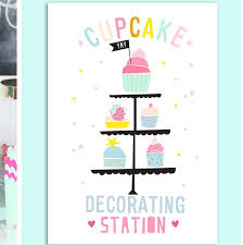 Instant Download Cupcake Decorating Poster Baking Party Etsy