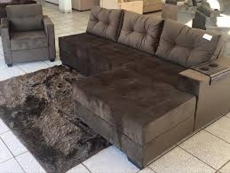 sofa retratil. sofa retratil com chaise e puff hpricot a
