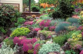 Small Picture Garden Ideas On A Slope With Perennials And Design Decorating